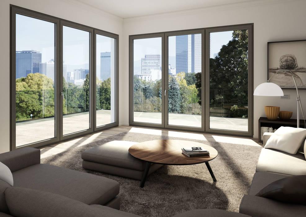 หน้าต่างพลาสติก โดย Oknoplast, โมเดิร์น