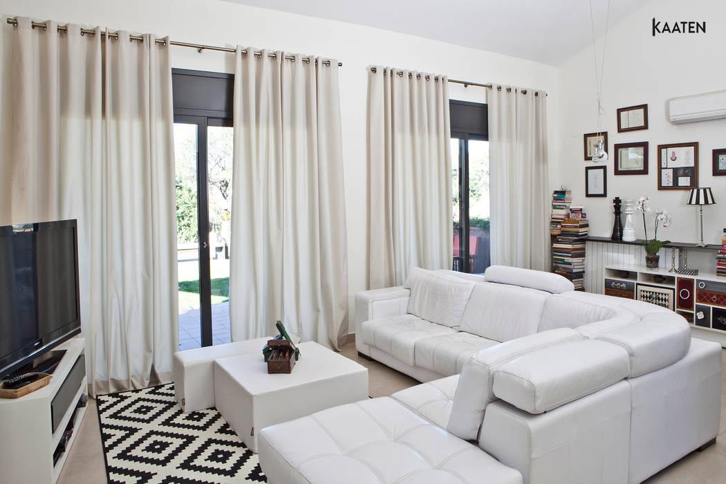 Cortinas modernas - Kaaten Salones de estilo moderno de Kaaten Moderno
