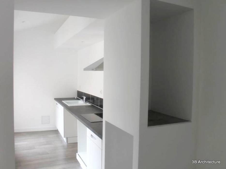 Vue de la cuisine Cuisine moderne par 3B Architecture Moderne