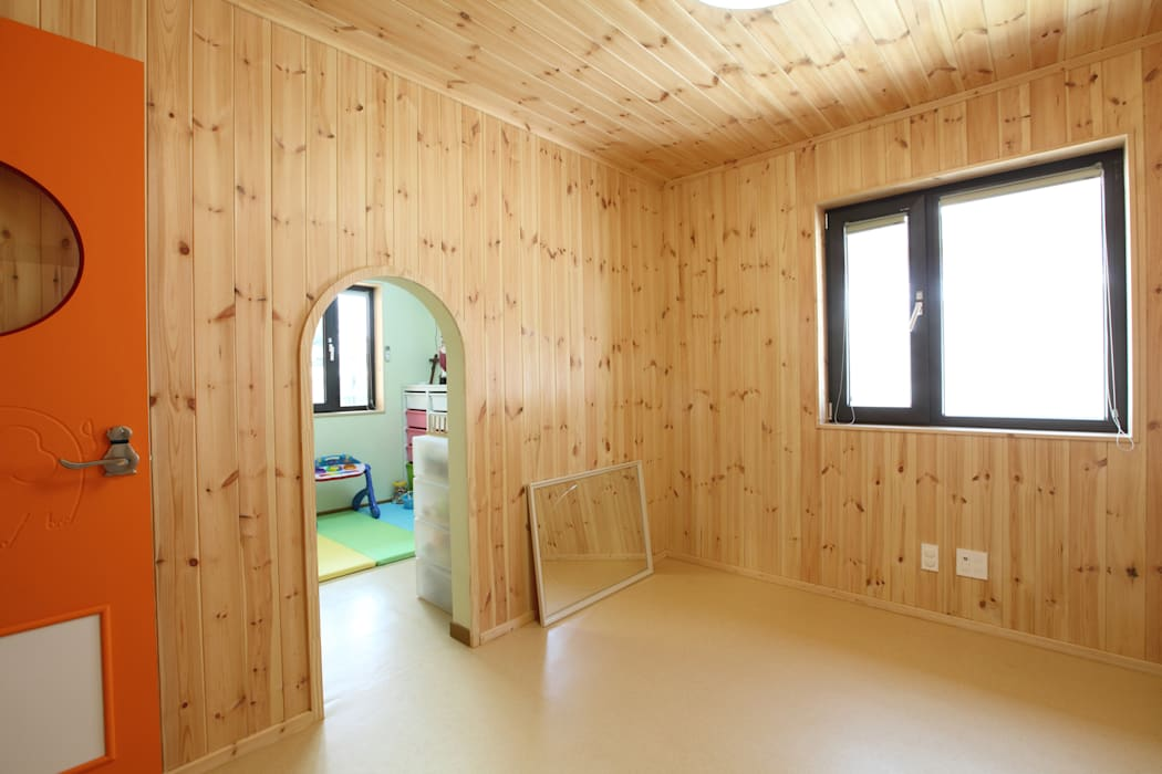 큰방을 나누어 쓰는 아이들방 모던스타일 아이방 by 주택설계전문 디자인그룹 홈스타일토토 모던