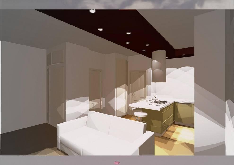 Studio di soggiorno/cucina a vista: in stile di silvia zaccaro ...
