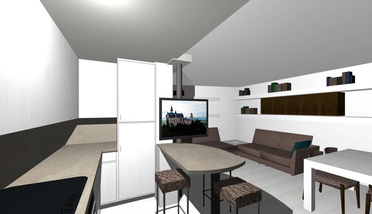 prova colore: Cucina in stile in stile Moderno di studio design d'interni Frigerio Lisa