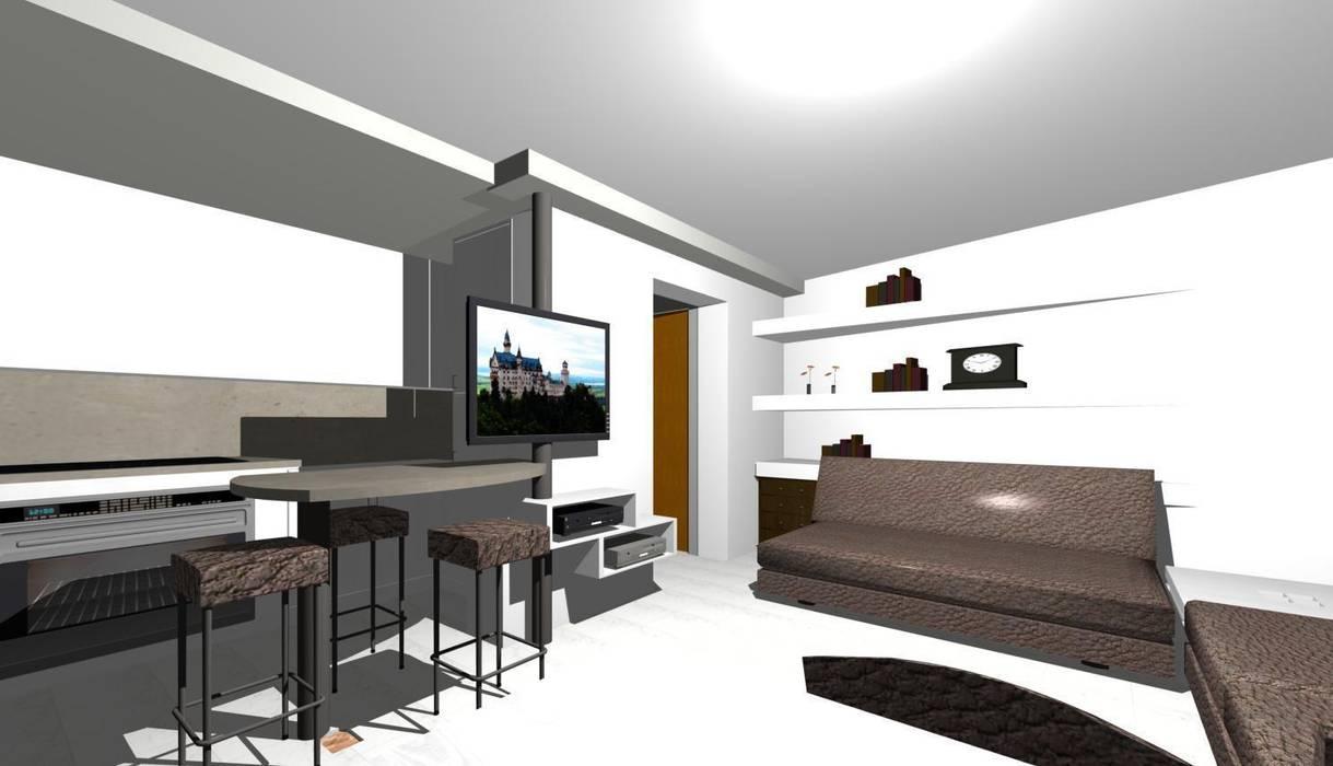 Porta tv girevole: soggiorno in stile di studio design d\'interni ...