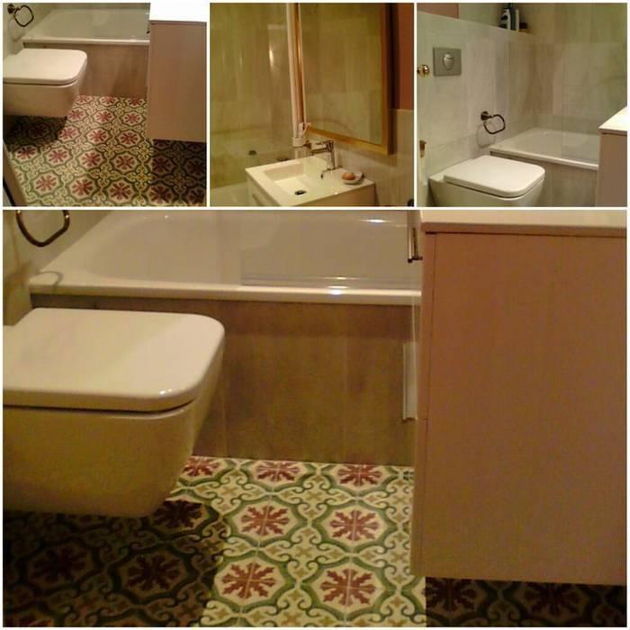 Solería de baño Paredes y pisos de estilo clásico de Suelos Hidráulicos Demosaica Clásico