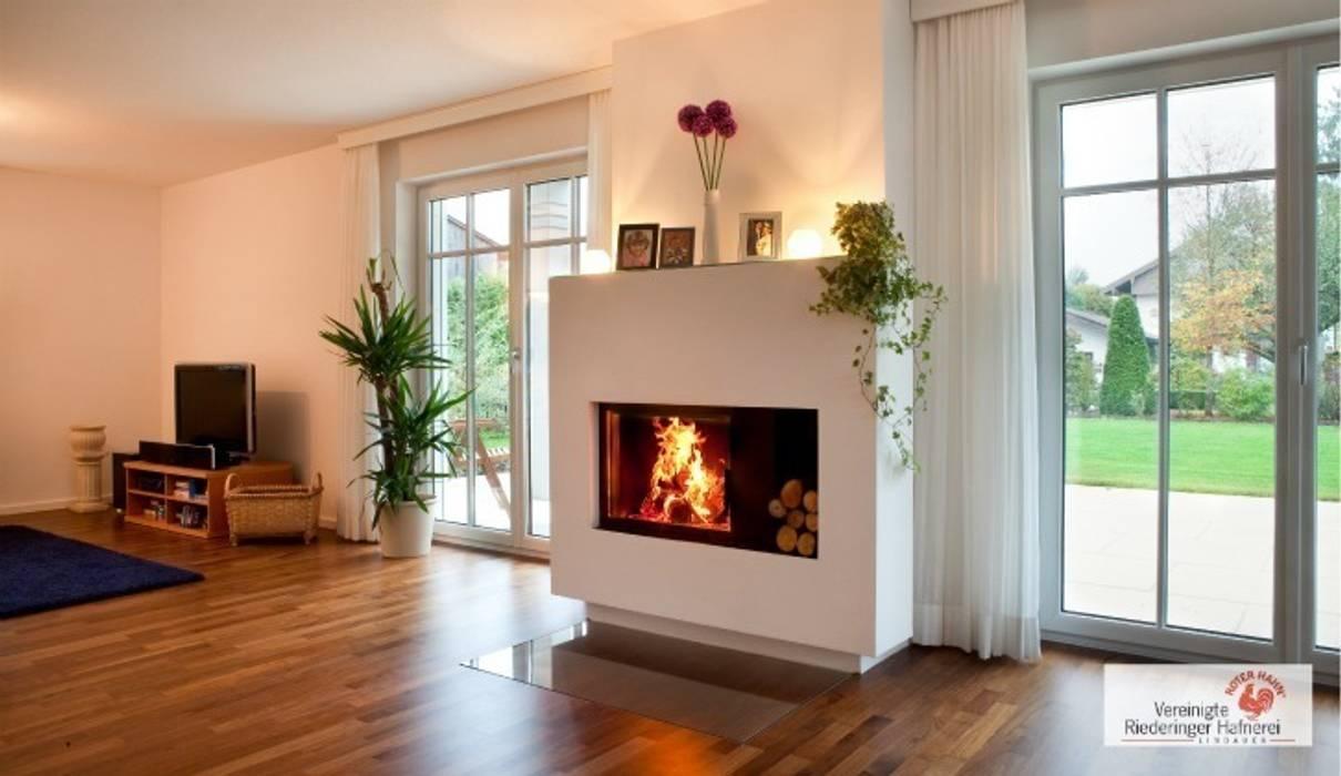 Moderner Heizkamin Mit Frontscheibe Moderne Wohnzimmer Von