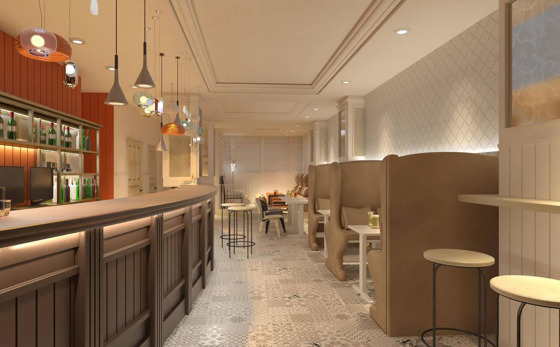 Infografía 3d: Locales gastronómicos de estilo  de interior03