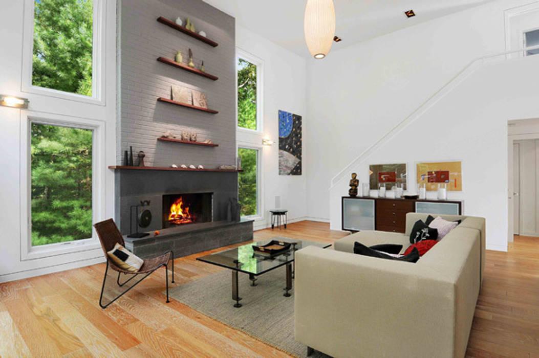 Modern Beach House, New York Modern Living Room by Eisner Design Modern