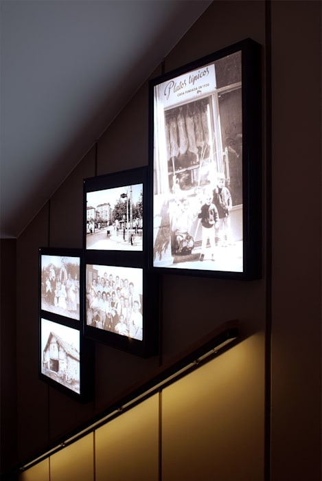 Escalera de acceso Gastronomía de estilo moderno de interior03 Moderno