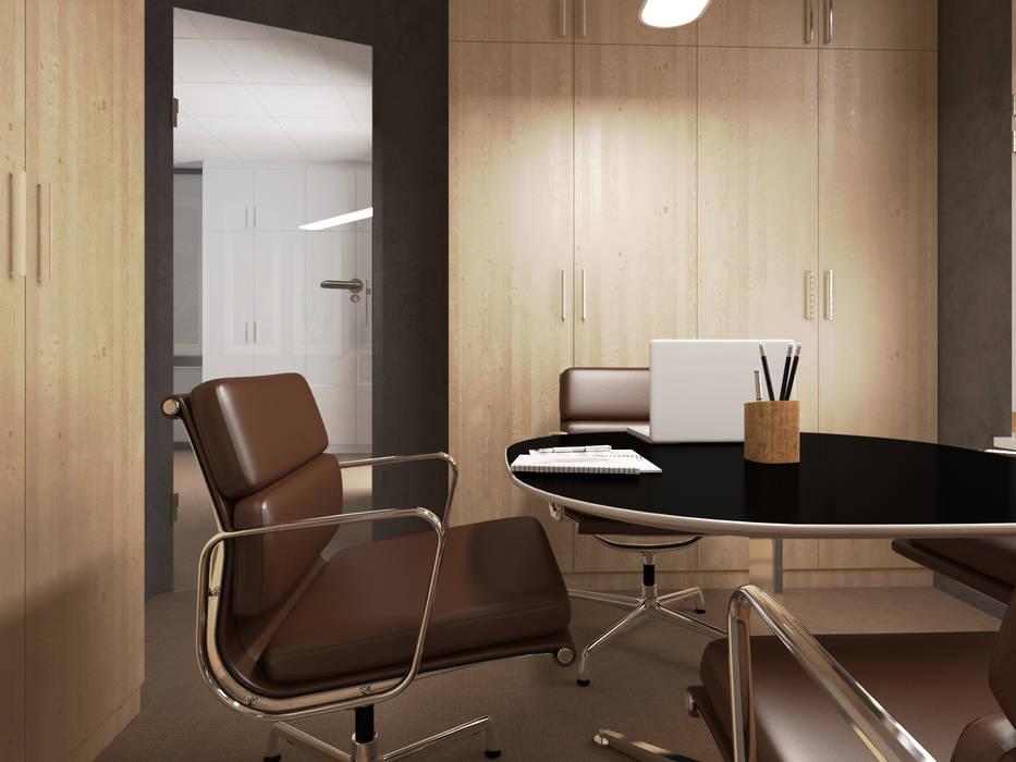 salle de reunion Bureau classique par Agence KP Classique Bois Effet bois