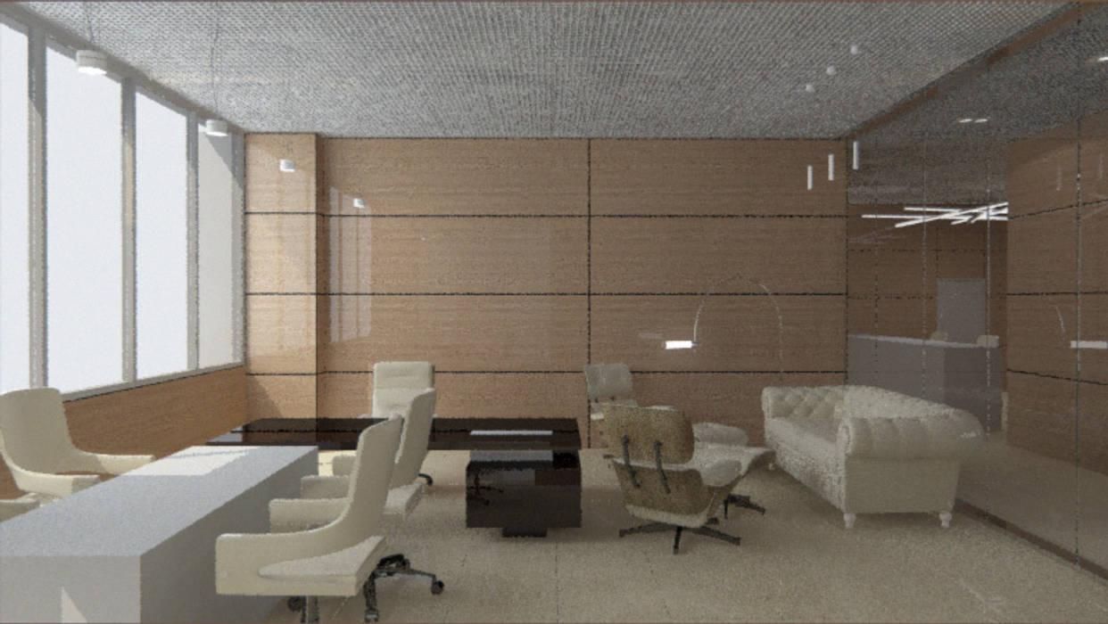 """Кабинет. Москва. """"Блаудерман Бюро"""" Рабочий кабинет в стиле минимализм от Блаудерман Бюро Минимализм"""