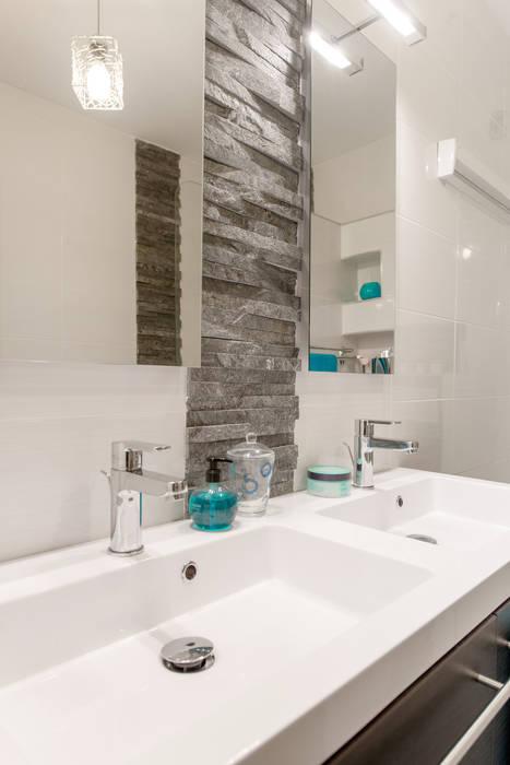 Salle de bains/ double vasque / ardoise / bleu : salle de bains de ...