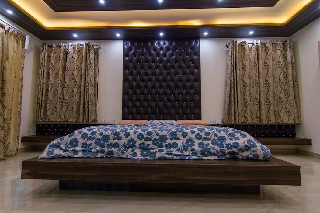 Masterbedroom headboard design Asian style bedroom by homify Asian