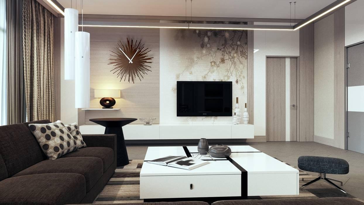 Salas de estilo moderno de Студия Искандарова Moderno
