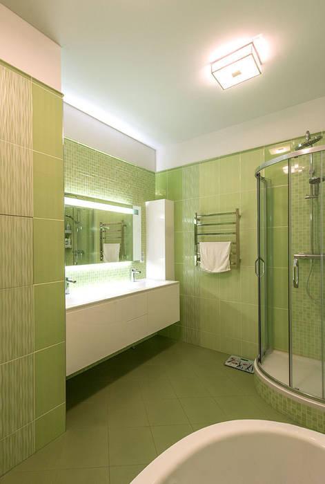 Яркий минимализм Ванная комната в стиле минимализм от D&T Architects Минимализм