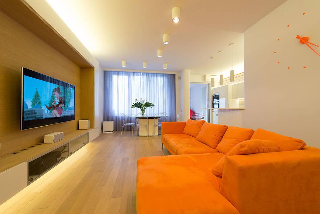 Livings de estilo minimalista de D&T Architects Minimalista