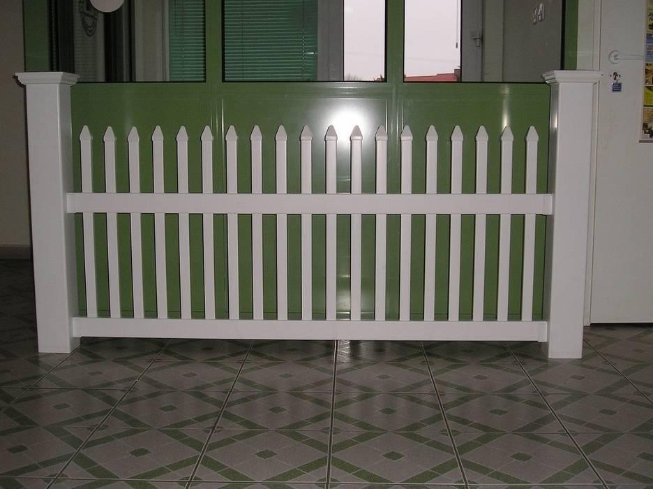 Ogrodzenie proste 1 Klasyczny ogród od Ogrodzenia PCV Klasyczny