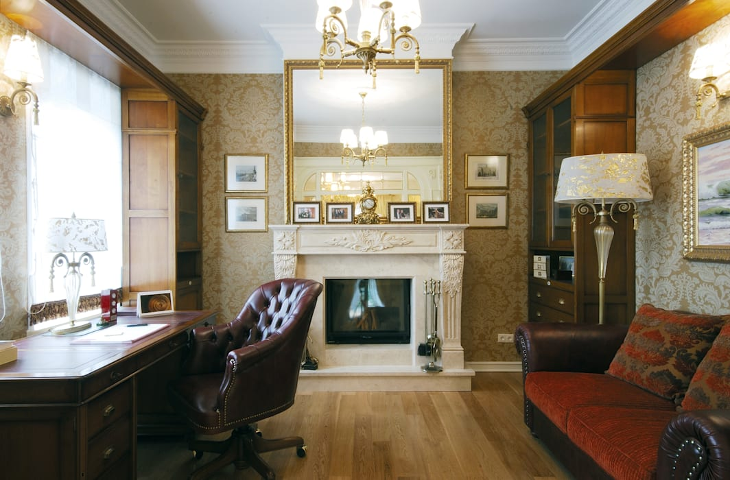 Classic style study/office by D&T Architects Classic