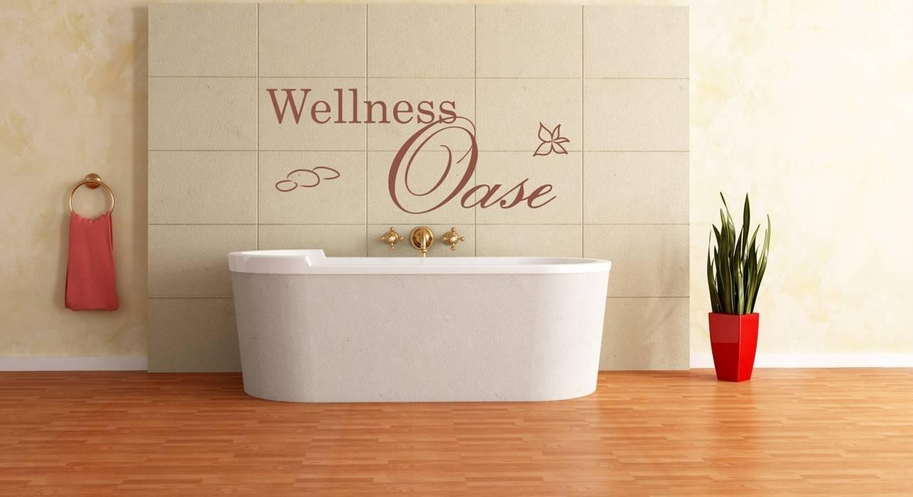 Wandtattoo wellness oase mediterrane badezimmer von designer ...