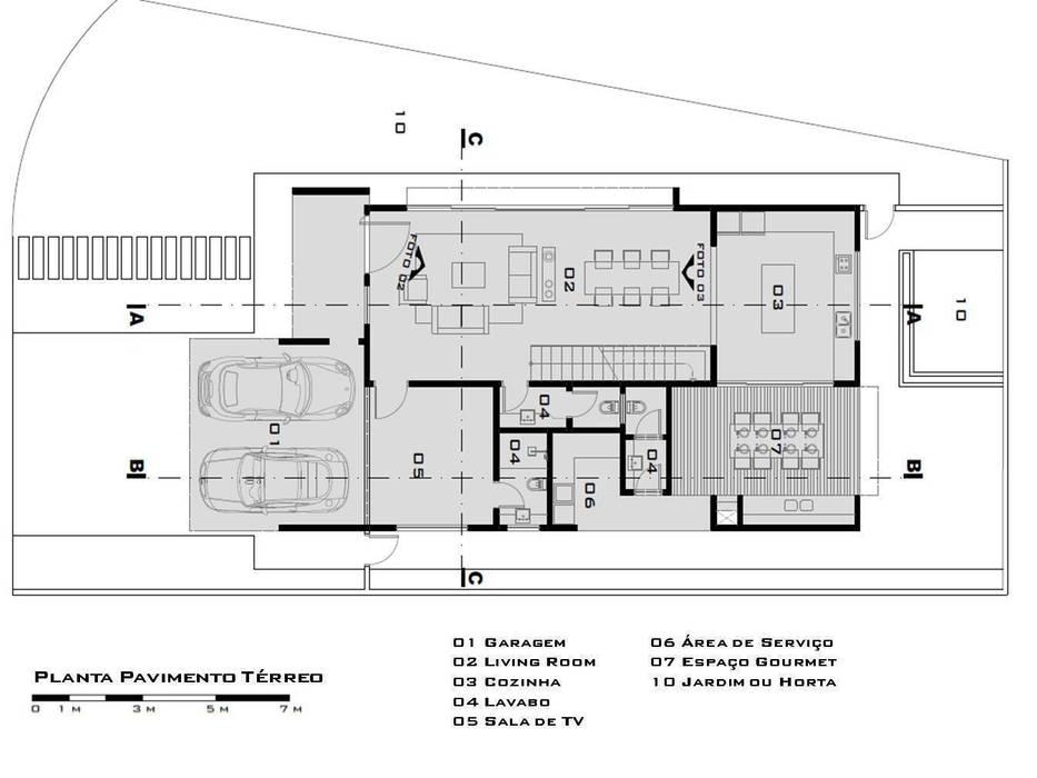 Planta pavimento térreo de Tony Santos Arquitetura
