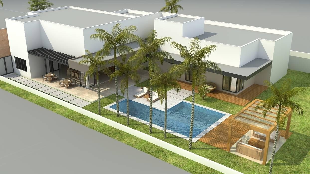 Área de lazer Casas modernas por Rafaela Dal'Maso Arquitetura Moderno