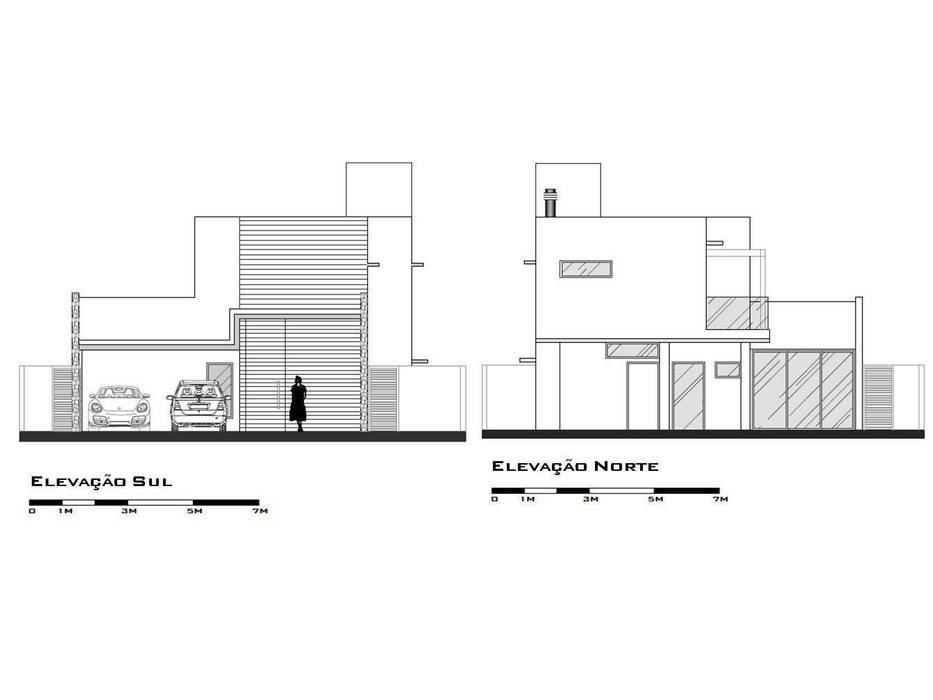 Elevation: modern  by Tony Santos Arquitetura, Modern