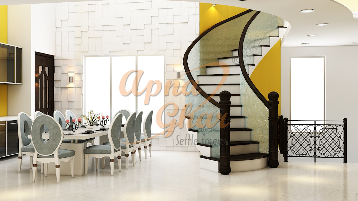 Drawing Room Interior Design Modern dining room by ApnaGhar.co.in Modern