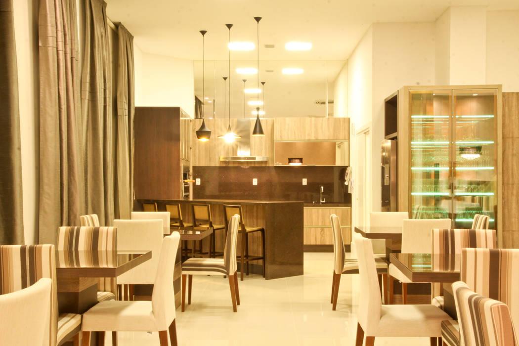 Salão de festas Salas de estar modernas por Daniela Vieira Arquitetura Moderno
