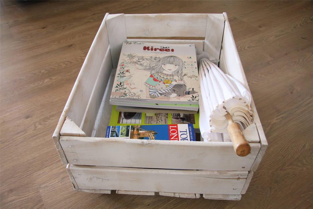 MIMOSA revistero cajas fruta de ECOdECO Mobiliario Rústico
