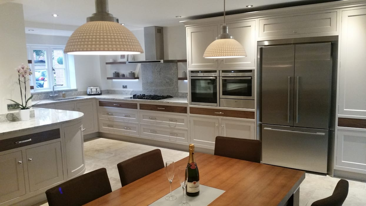 walnut drawers by Place Design Kitchens and Interiors Country