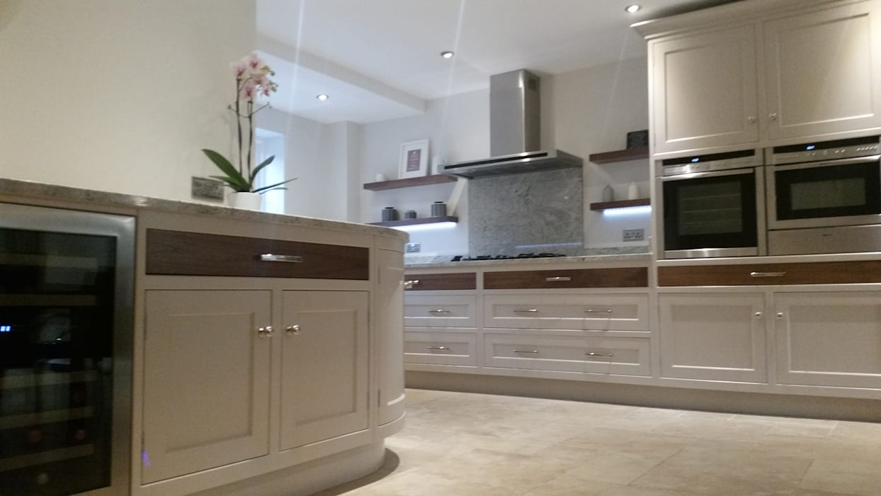 Floating shelves by Place Design Kitchens and Interiors Country