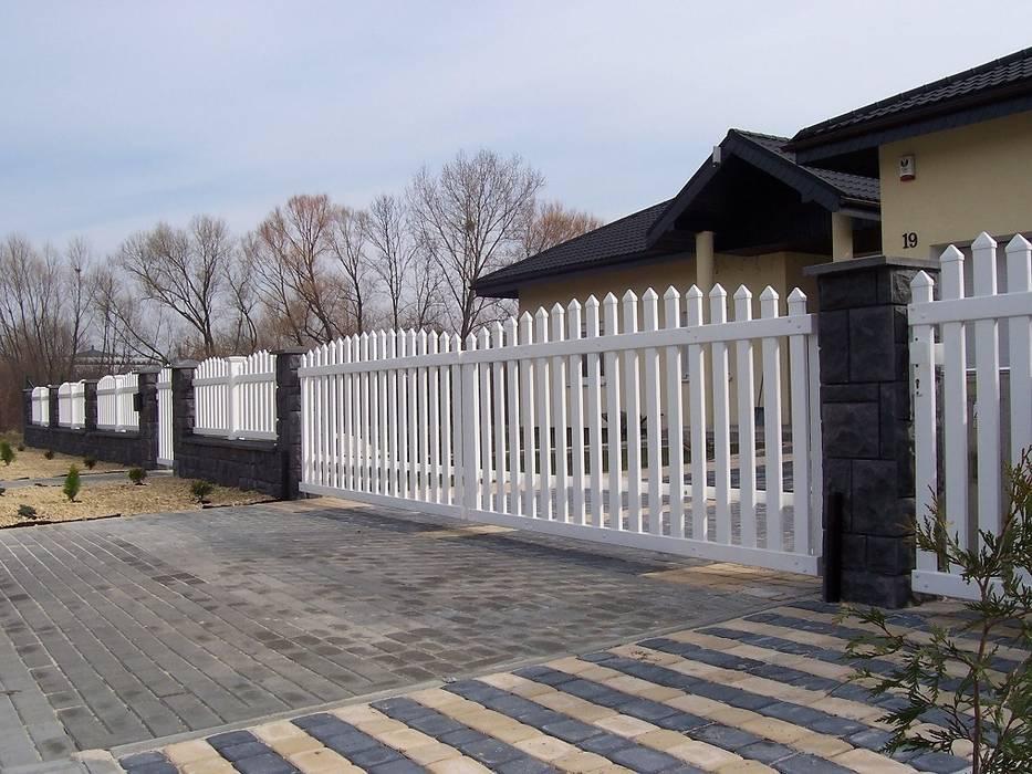 Brama przesuwna wypukła 2: styl , w kategorii Ogród zaprojektowany przez Ogrodzenia Radosław Sycz