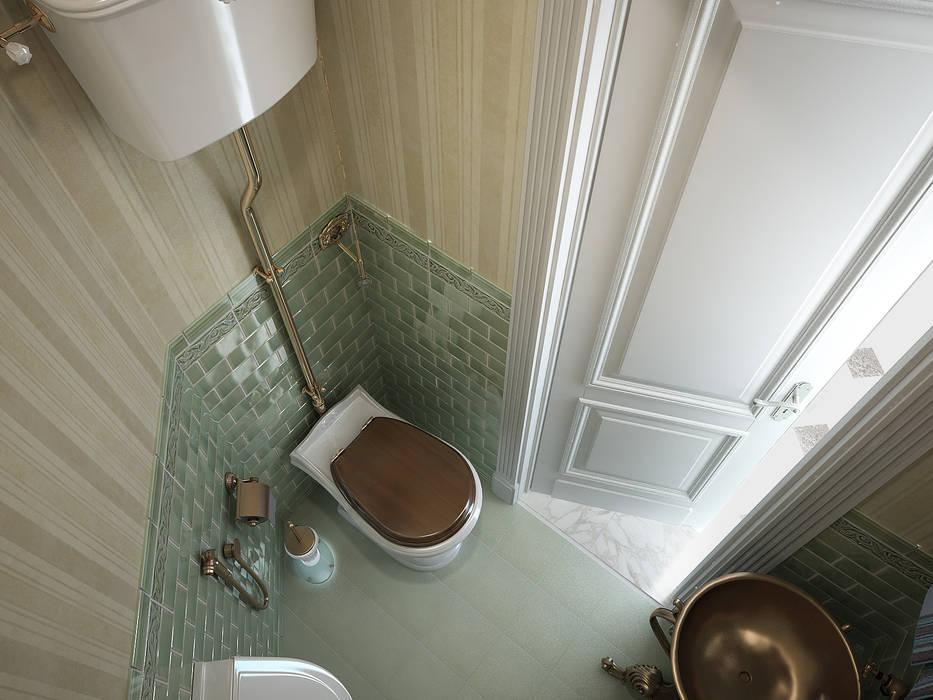 Дом с английскими мотивами Ванная в классическом стиле от премиум интериум Классический