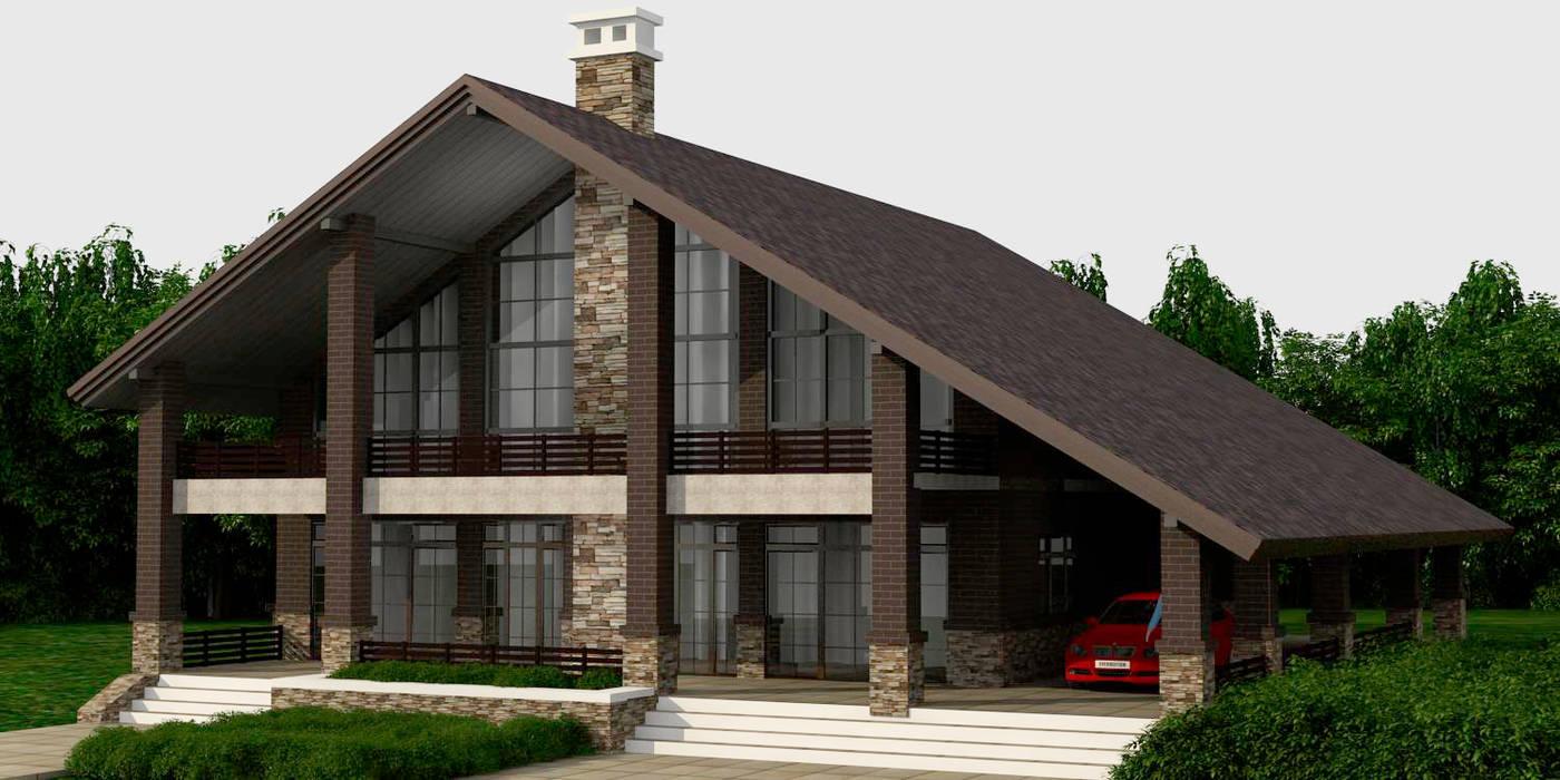 Проект дома Дома в рустикальном стиле от Quality Metric Рустикальный