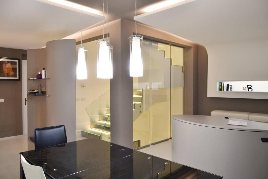 Scala interna in vetro con illuminazione a led: in stile di