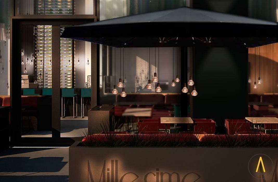 Restaurante en Cannes Gastronomía de estilo moderno de Acontraluz Studio Moderno