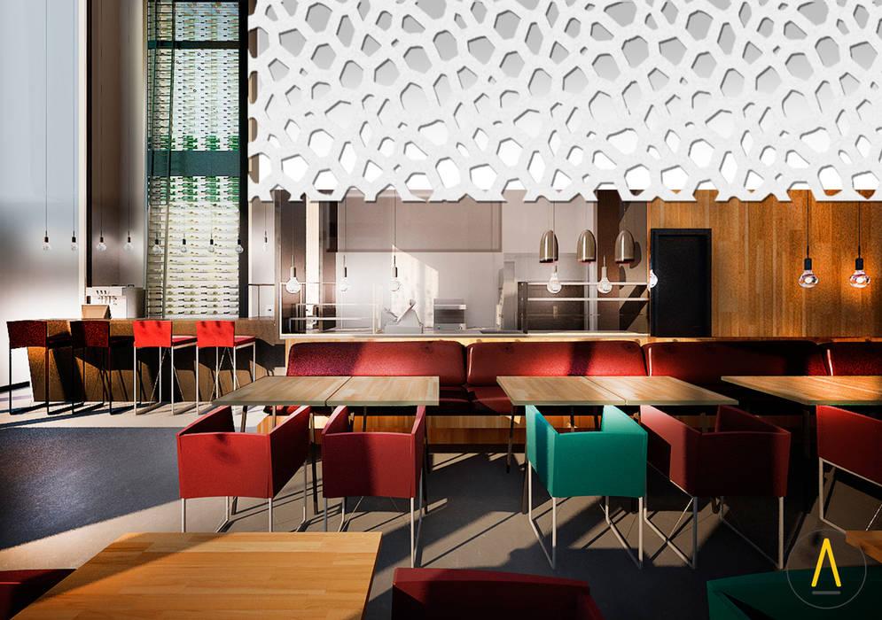 Restarante en Cannes Gastronomía de estilo moderno de Acontraluz Studio Moderno