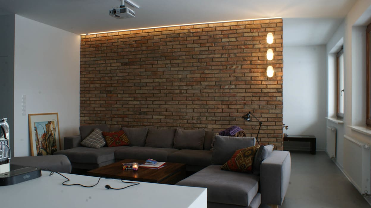 LOFT W WIALANOWIE Industrialny salon od t design Industrialny