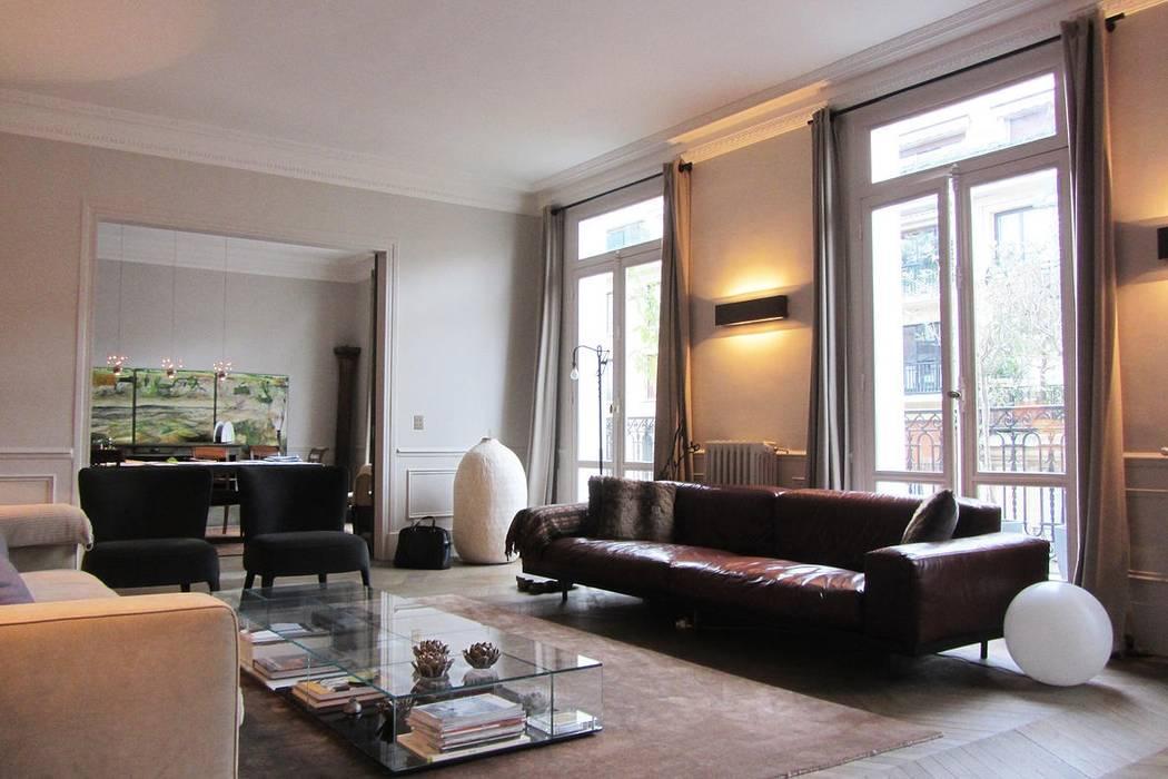 Appart Paris 16 Salon minimaliste par Roque Intérieurs Minimaliste