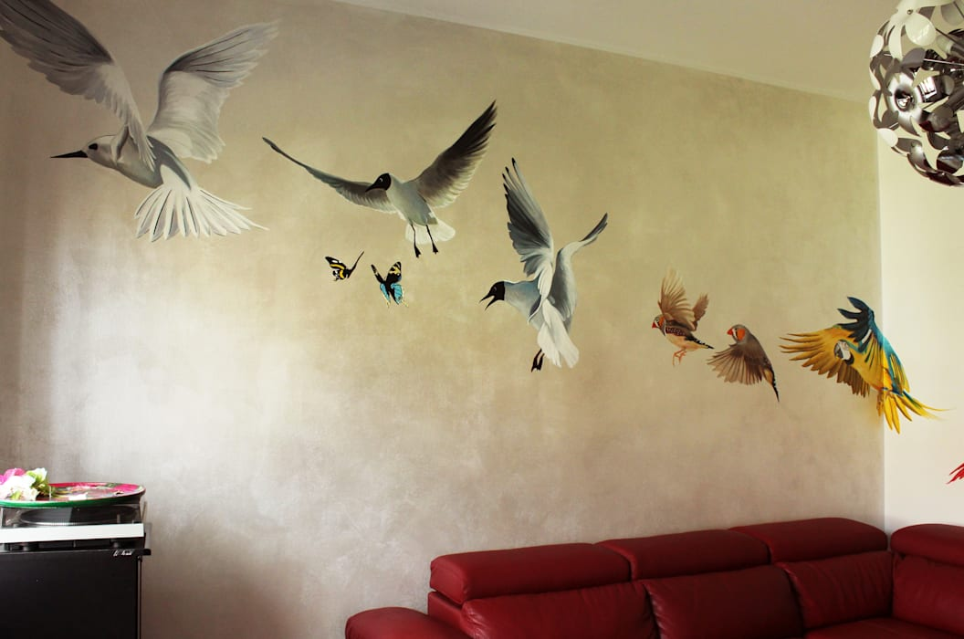 Il volo: soggiorno in stile di alessandra pagliuca / visual ...