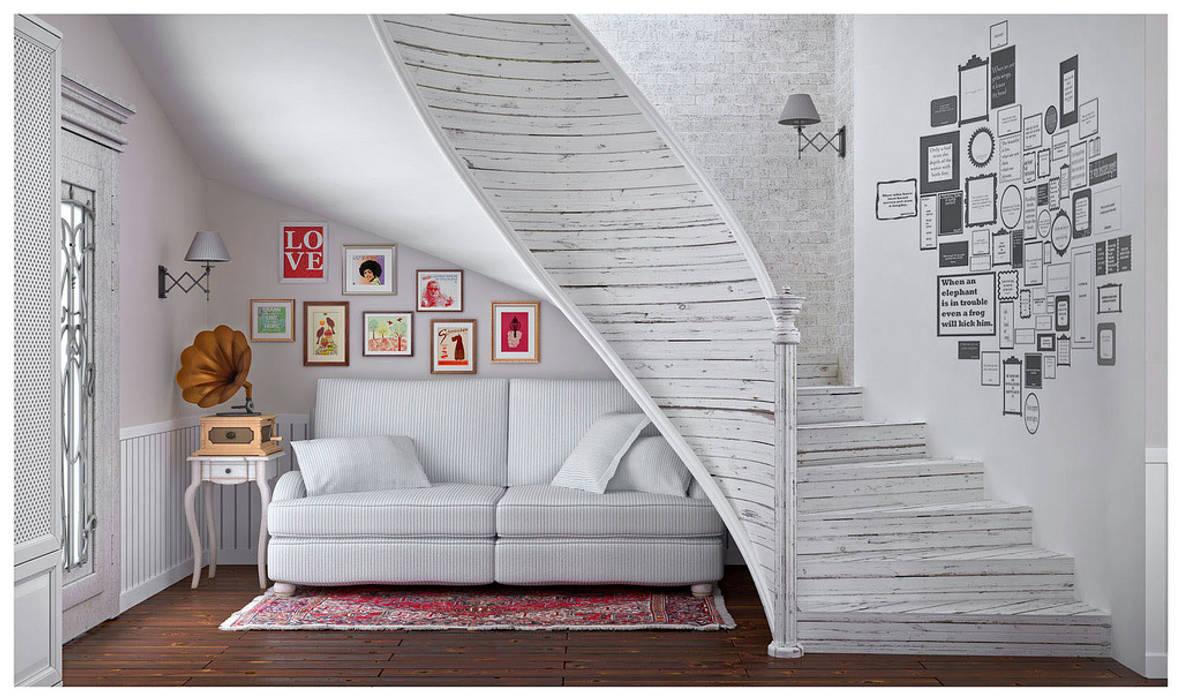 ILKIN GURBANOV Studio Ingresso, Corridoio & Scale in stile scandinavo