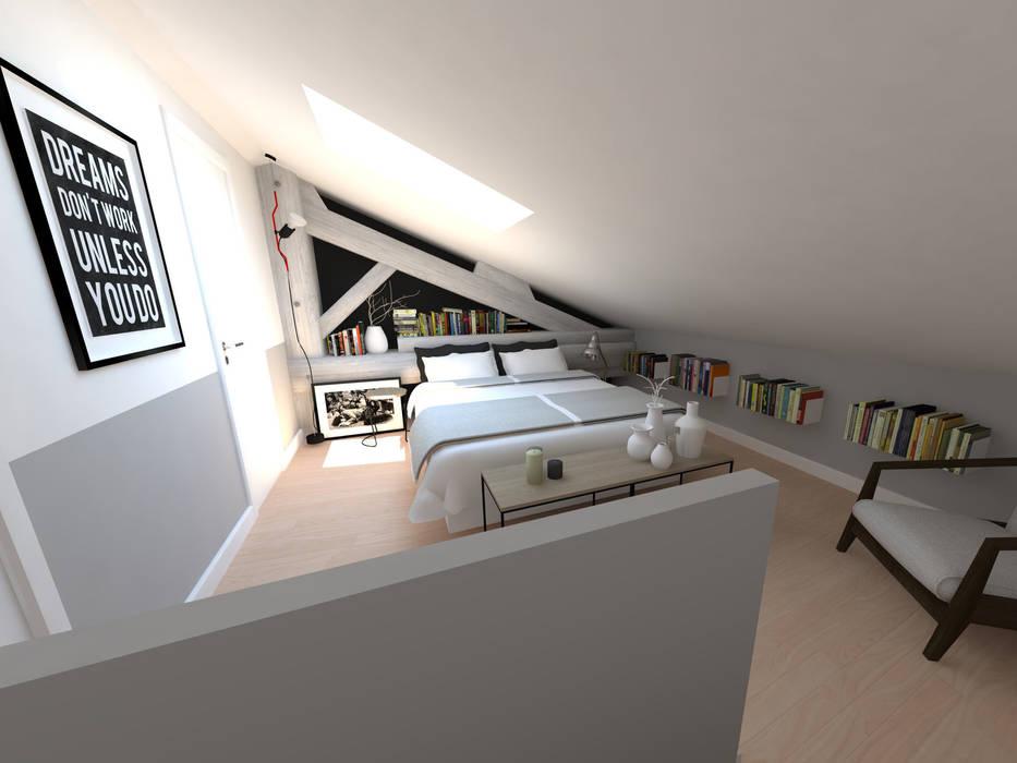 Réaménagement d'une chambre: Chambre de style de style Industriel par La Fable