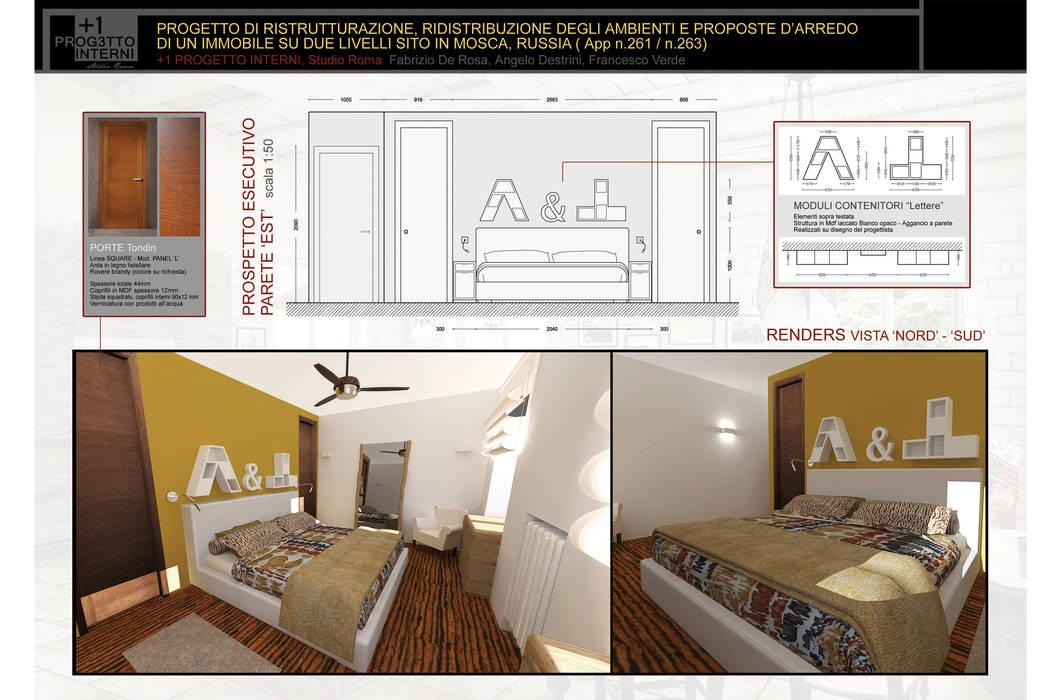 1 progetto interni camera da letto eclettica di +1 progetto ...