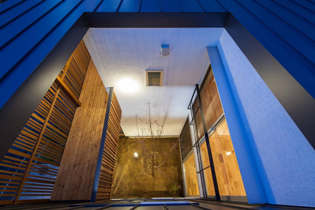 岸和田の家 中庭 モダンな庭 の 神谷徹建築設計事務所 モダン