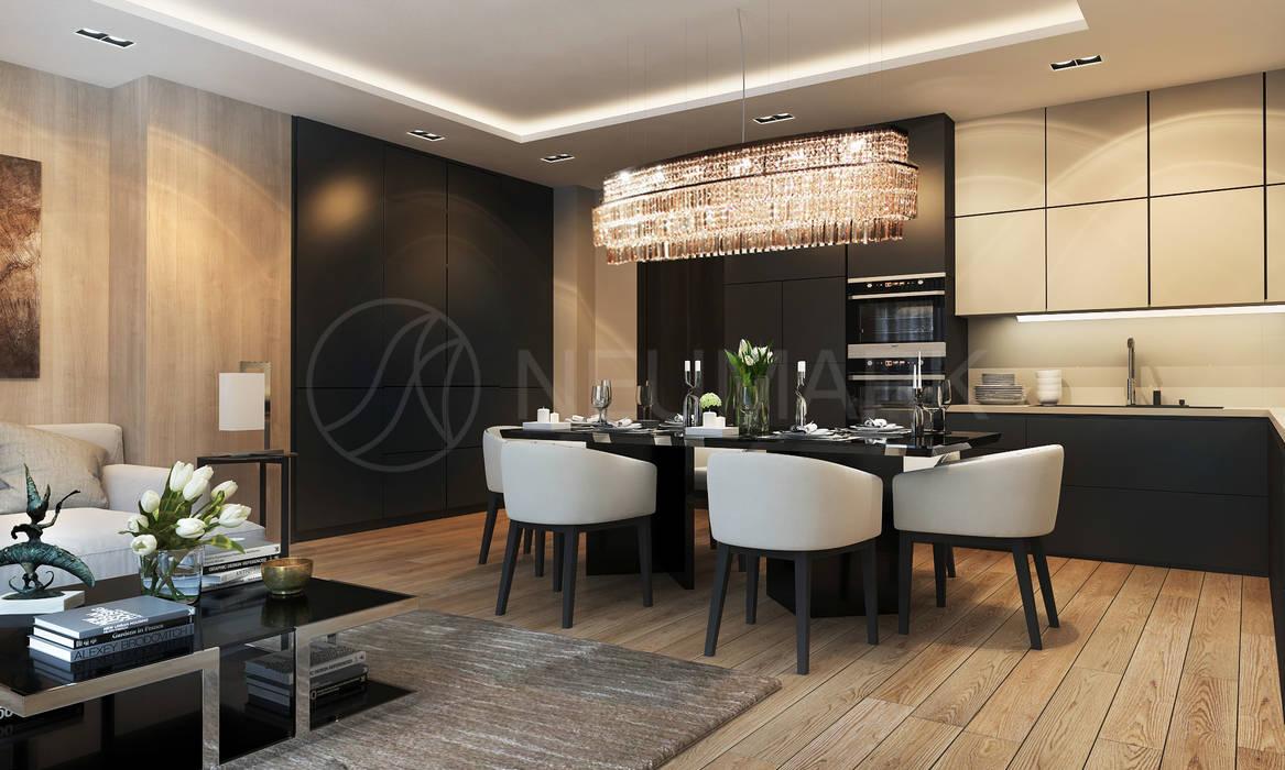 Salle à manger de style  par Anton Neumark, Éclectique