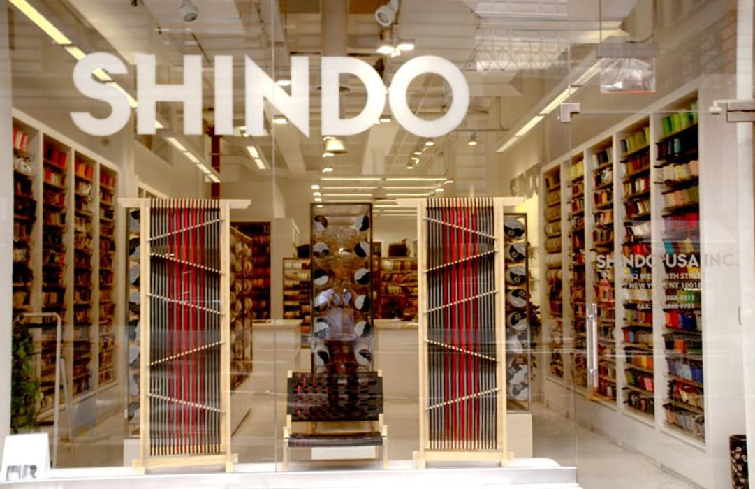 SHINDO's showroom in NYC Ruang Komersial Gaya Asia Oleh tona BY RIKA KAWATO / tonaデザイン事務所 Asia