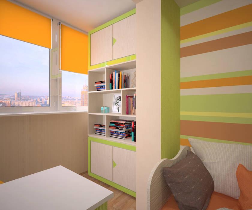 Детская для девочки и мальчика: Детские комнаты в . Автор – Студия дизайна Виктории Силаевой, Минимализм