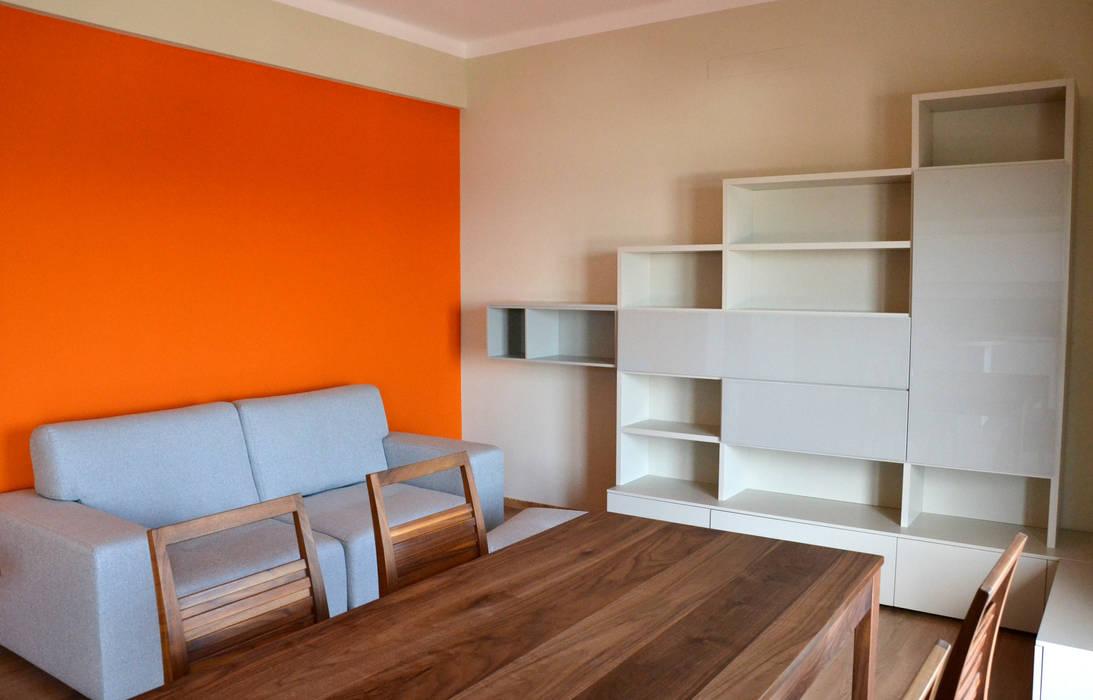Ambiente Open space - Soggiorno e cucina Skyline: Soggiorno in stile in stile Moderno di Architetti di Casa