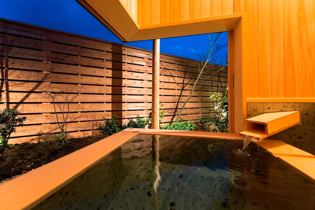 아시아스타일 욕실 by AMI ENVIRONMENT DESIGN/アミ環境デザイン 한옥