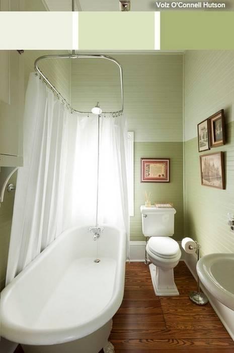 Cuarto de baño pequeño en tonos verdes: Baños de estilo  de La brujula Feng Shui