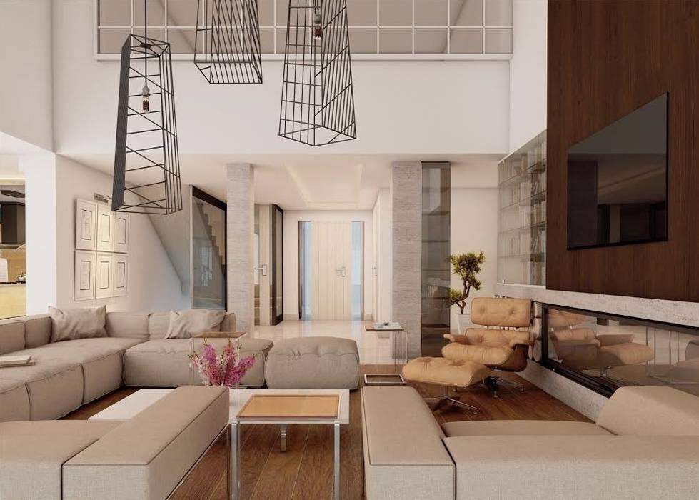 Ankarada bir ev Modern Koridor, Hol & Merdivenler homify Modern